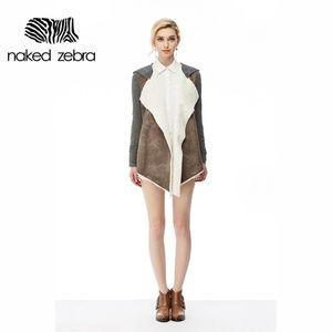 NWOT Naked Zabra Open Front Fur Hoodie Jacket
